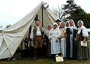 Colonial Revelers at the Tavern.