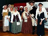 The Colonial Revelers pose with George and Martha Washingtown at Valley Forge, Pa.